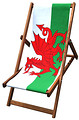 Welsh flag deckchair