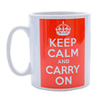 Keep Calm and Carry on Red Mug