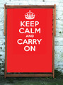 Keep Calm and Carry On Red Wideboy Deckchair