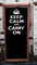Keep Calm and Carry On Black Deckchair
