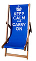 Keep Calm and Carry On Blue Deckchair