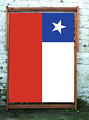 Chile National Flag Designer Wideboy Deckchair