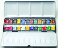 Artists' Watercolour Metal Box 24 Half Pan Set