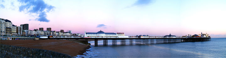 Brighton Palace Pier at sunset by Eyes Wide Digital