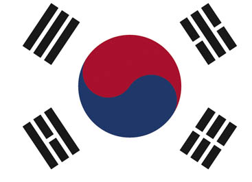 National flag of South Korea Yin and Yang - World Cup deckchair designs
