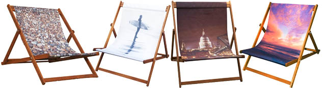 personalised photo Wideboy double Deckchairs