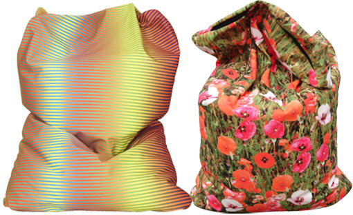 Designer Beanbags, printed bean bag
