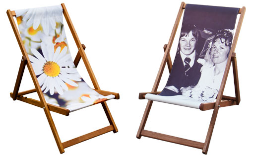 printed designer personalised deckchairs by Eyes Wide Digital Ltd