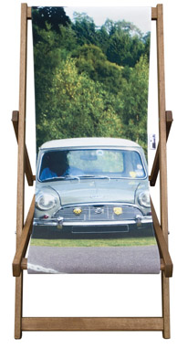 Printed personalised deisgner deckchair by Eyes Wide Digital Ltd